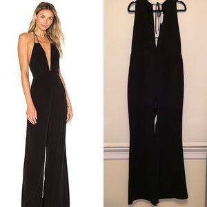 ASTR The Label Black Cassandra Wide Leg Jumpsuit